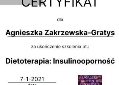 certyfikat szkolenia insulinooporność